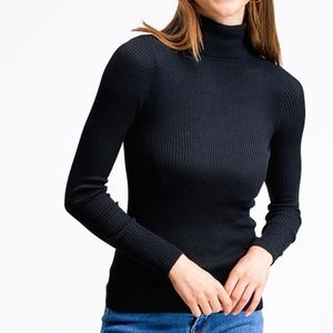 Classic ribbed turtle neck sweater